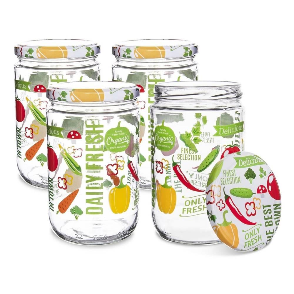 Orion Orion Sada zaváracích pohárov s viečkom Fruit 0,425 l, 4 ks