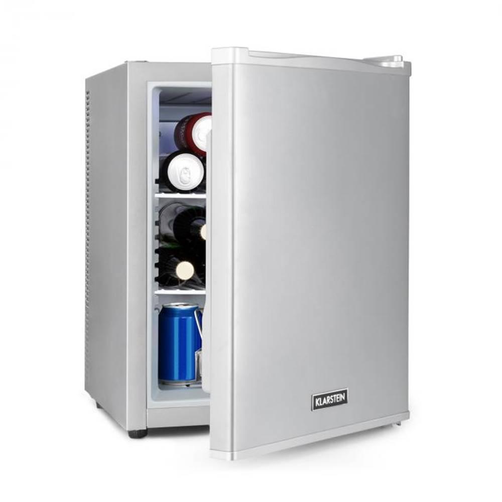 Klarstein Klarstein Happy Hour 37, mini bar, 37L, 5-15°C, tichý, 0dB, LED-svetlo, strieborný