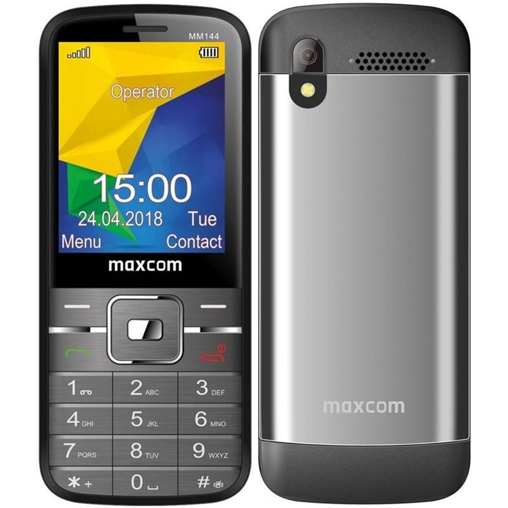 MaxCom Mobilný telefón MaxCom MM144 sivý
