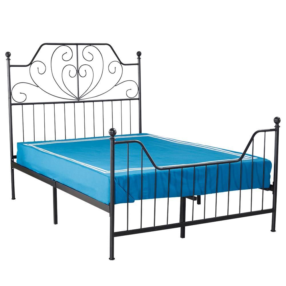 Tempo Kondela Kovová posteľ s roštom čierna 160x200 RAJANA