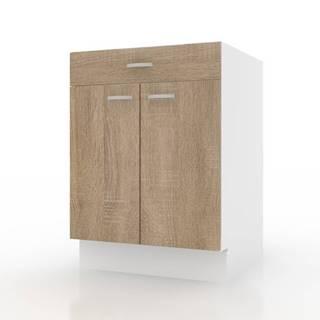 Spodná skrinka POLAR II dub sonoma/biela, 60 cm