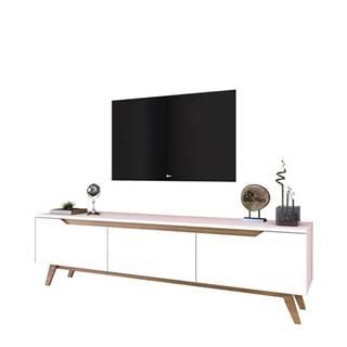 TV stolík QUINN biela/orech