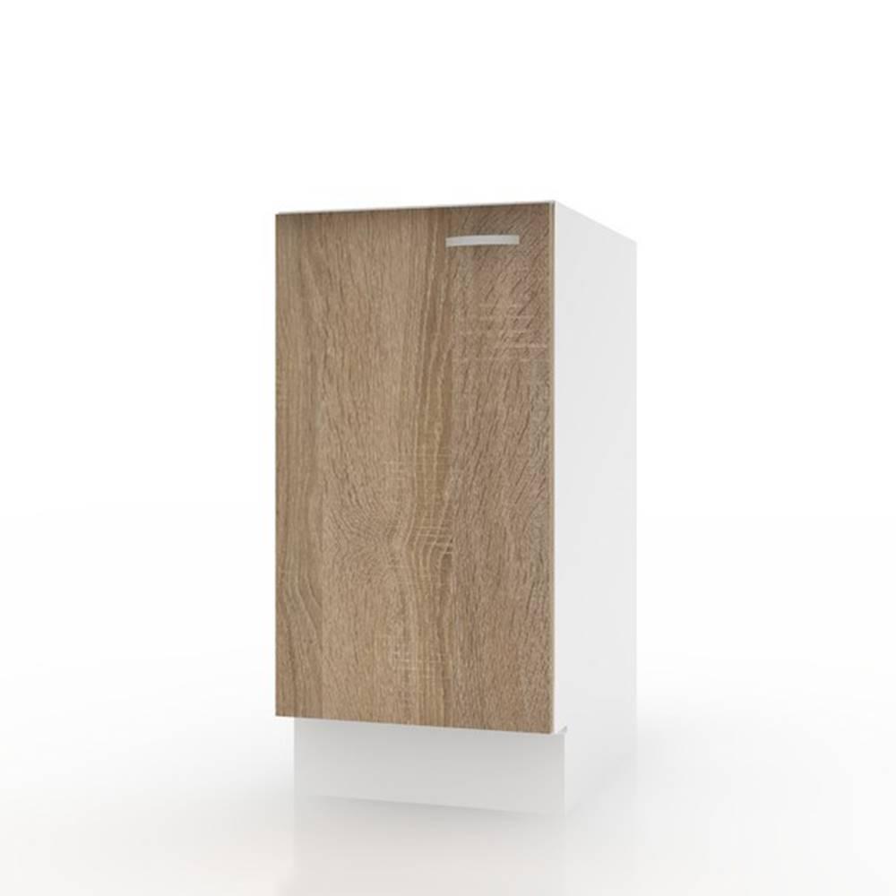 Sconto Spodná skrinka POLAR II dub sonoma/biela, 40 cm