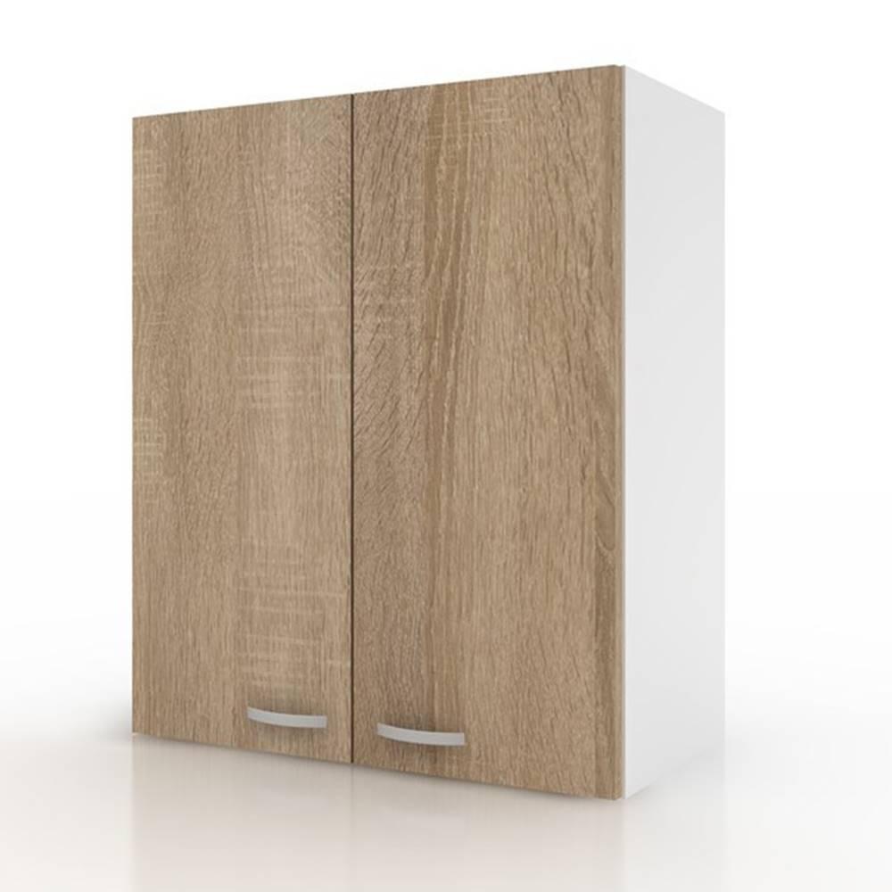 Sconto Závesná horná skrinka POLAR II dub sonoma/biela, 60 cm