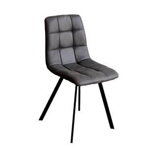 Jedálenská stolička BERGEN sivé mikrovlákno