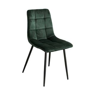 Jedálenská stolička BERGEN zelený zamat
