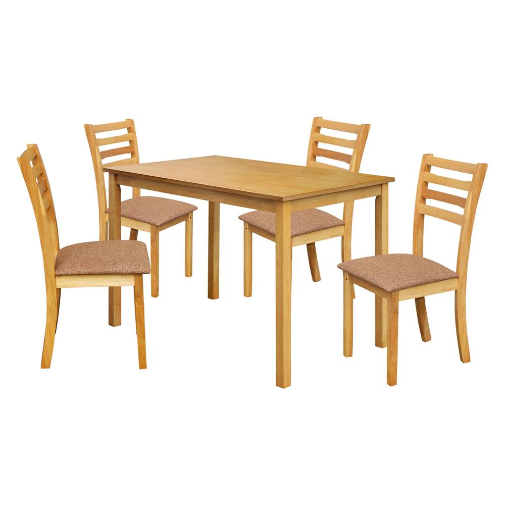 IDEA Nábytok Stôl + 4 stoličky BARCELONA lak javor