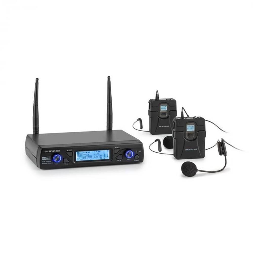 Auna Pro Auna Pro UHF200C-HB, sada 2-kanálových UHF bezdrôtových mikrofónov, prijímač, ručný mikrofón, vysielač