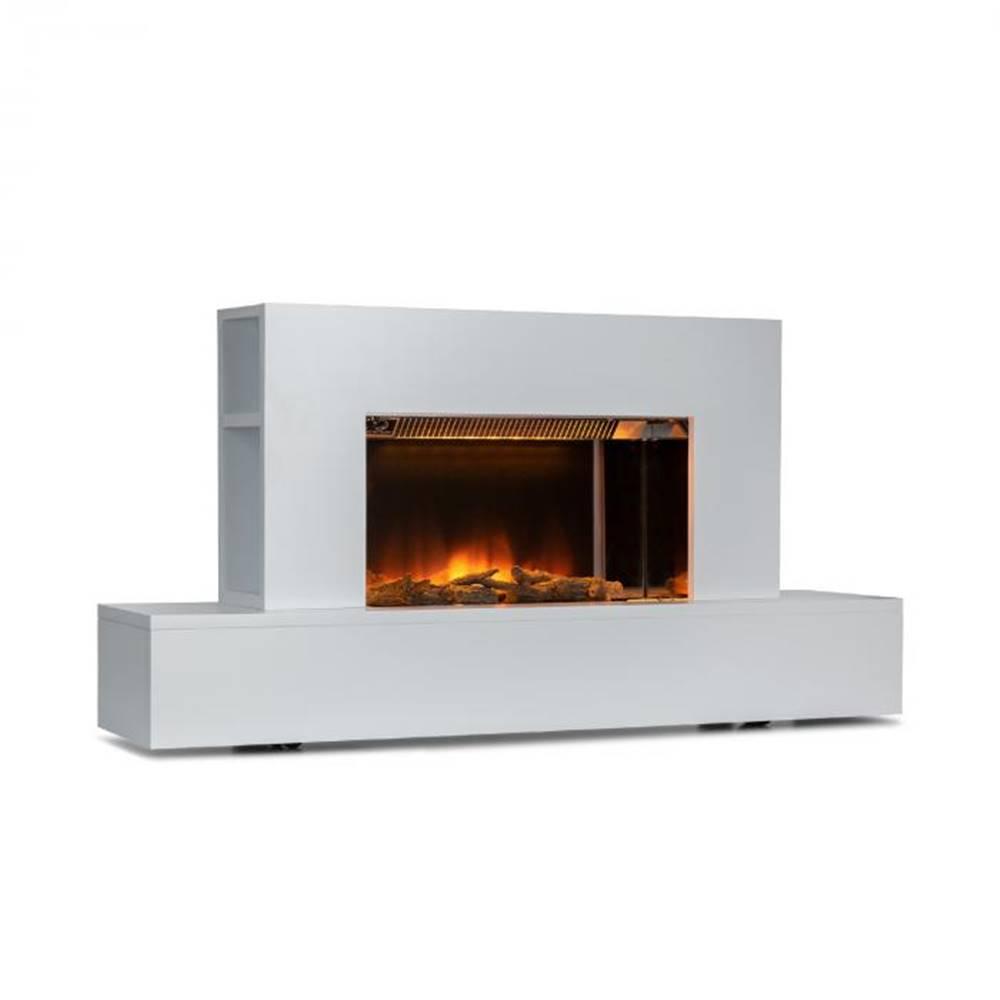 Klarstein Klarstein Heat 'n Beat, elektrický krb, 900/1800 W, LED, bluetooth reproduktor, biely