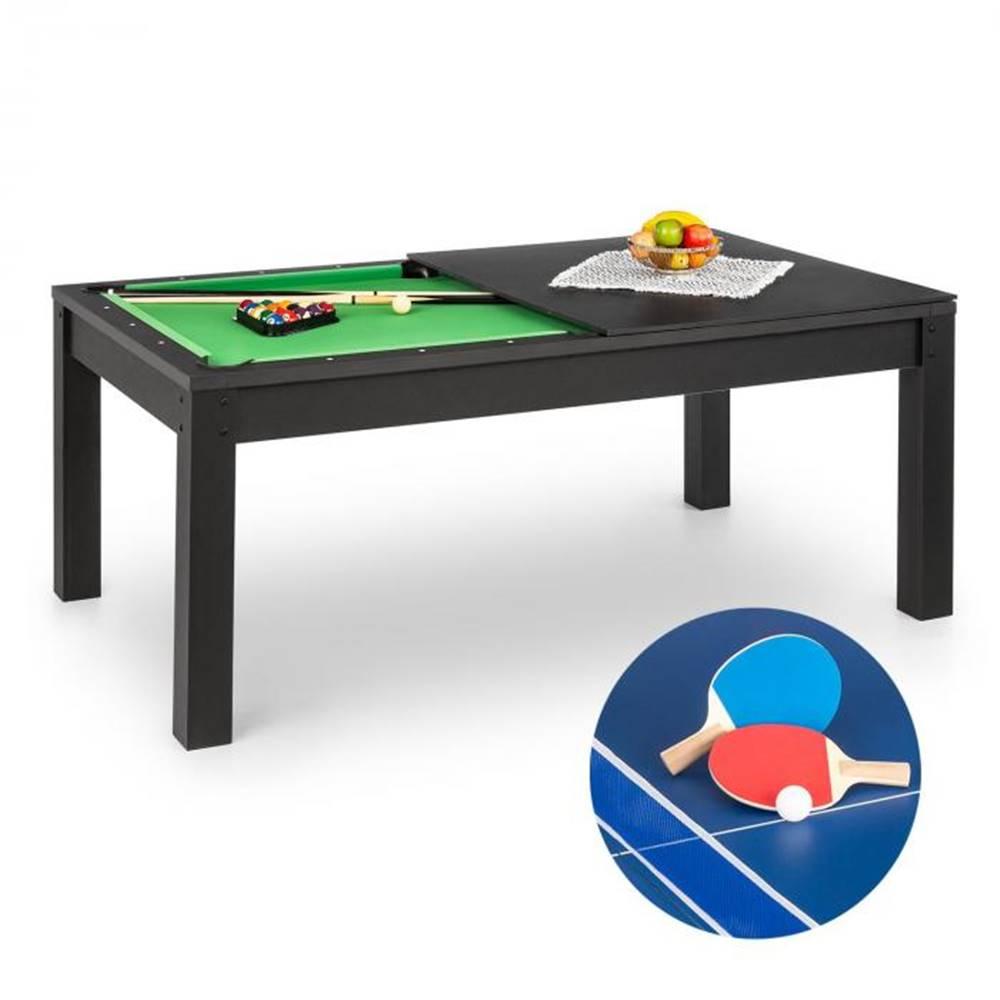 OneConcept OneConcept Liverpool, 3-v-1, hrací stôl, 7' biliardový stôl, stôl stolný tenis, jedálenský stôl, čierny