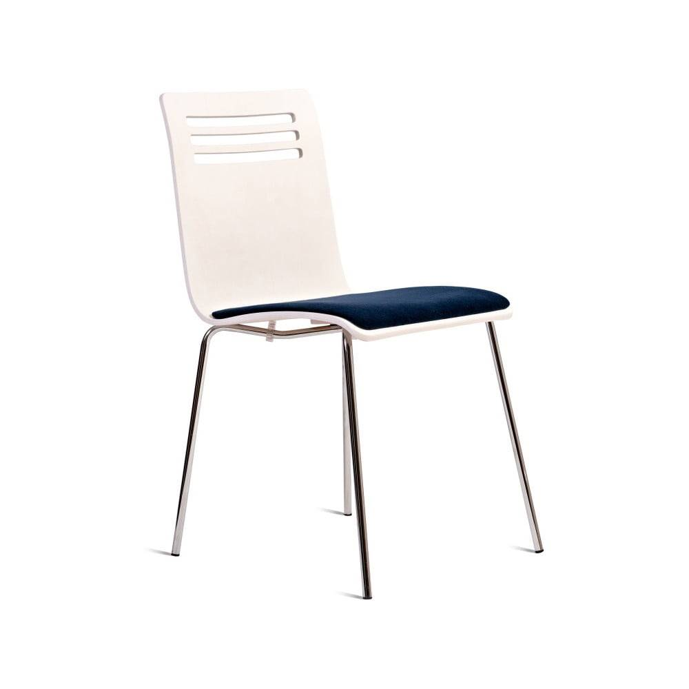 Charlie Pommier Biela stolička so sedákom z bukového dreva Charlie Pommier Comfort