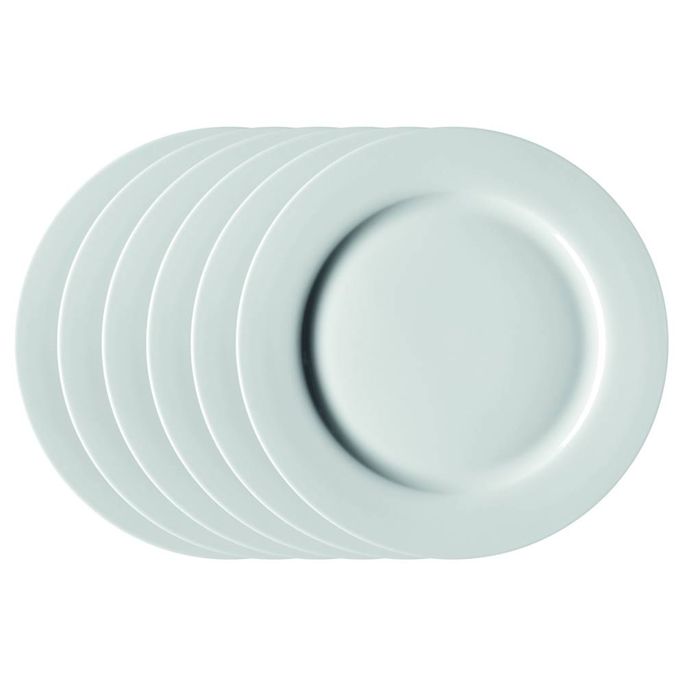Mäser Mäser Sada plytkých tanierov Clasico 27 cm, 6 ks, biela