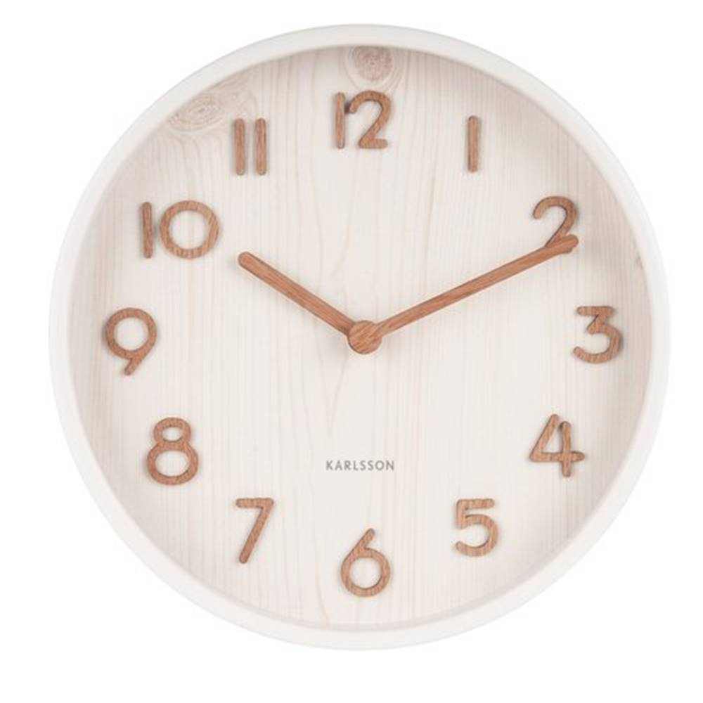 Karlsson Karlsson 5808WH Dizajnové nástenné hodiny pr. 22 cm