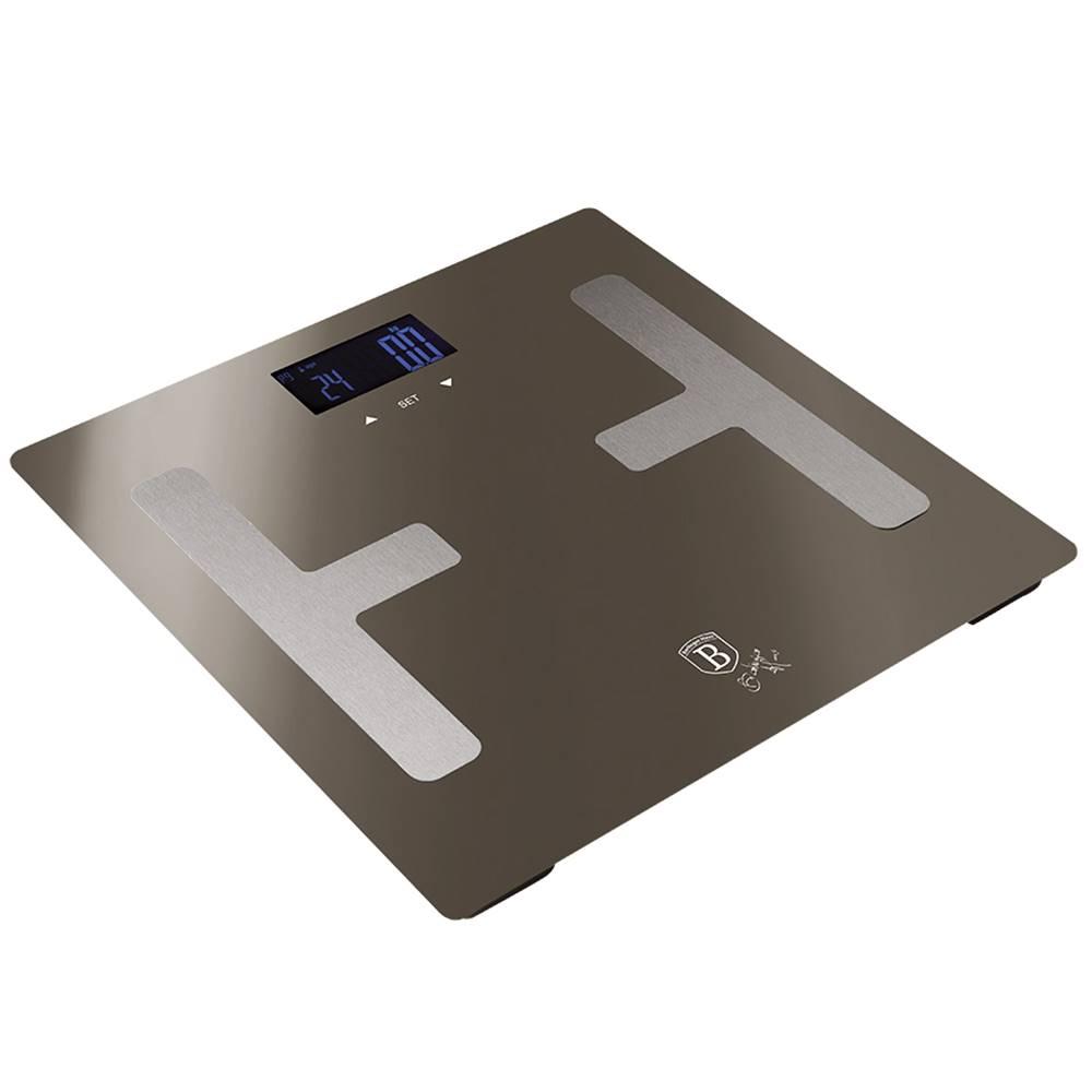 Tempo Kondela Osobná váha metalická Carbon BERLINGERHAUS BH-9103