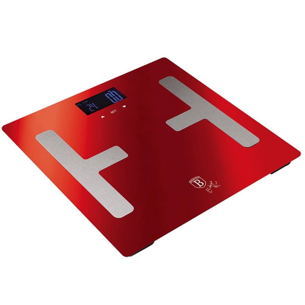 Tempo Kondela Osobná váha metalická červená Burgundy BERLINGERHAUS BH-9104