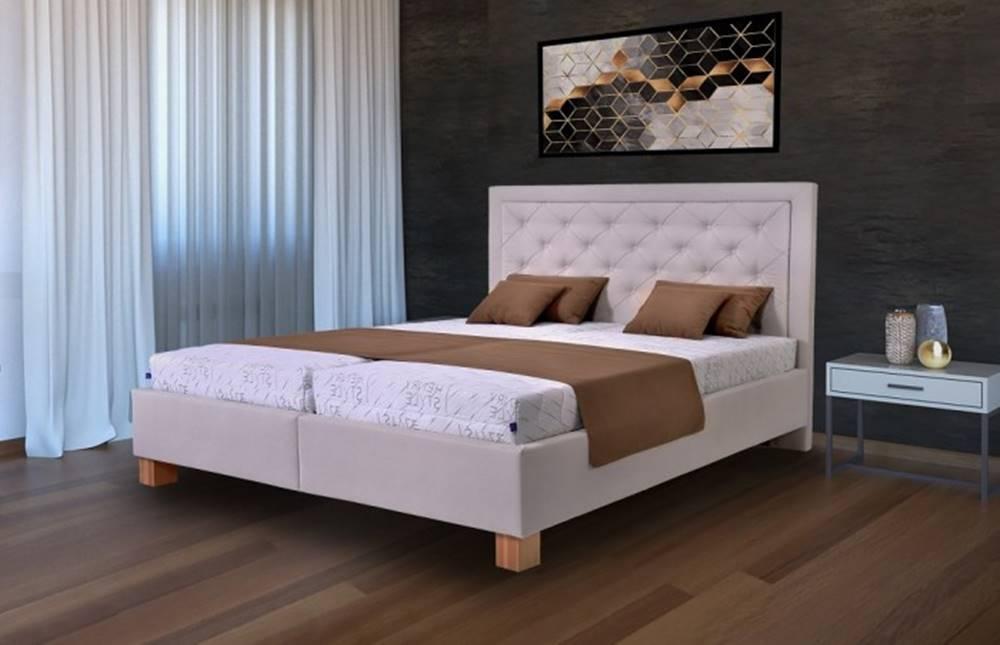 OKAY nábytok Čalúnená posteľ Elizabeth 180x200, vr. mat., pol. roštu, úp