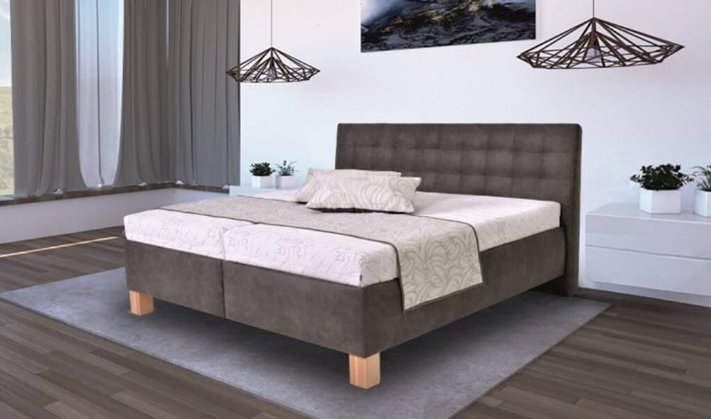 OKAY nábytok Čalúnená posteľ Victoria 180x200, vr. matraca, pol.roštu a úp