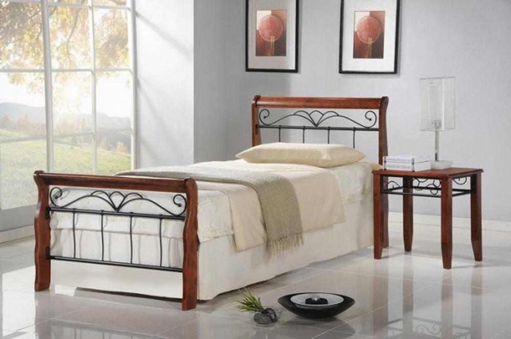 OKAY nábytok Kovová posteľ Verona 90x200, vrátane roštu, bez matracov
