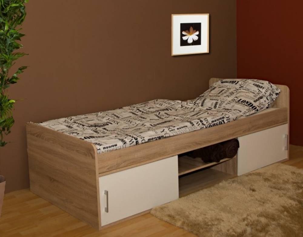 OKAY nábytok Posteľ Sáva II, 90x200, vrátane úp, bez roštu a matraca