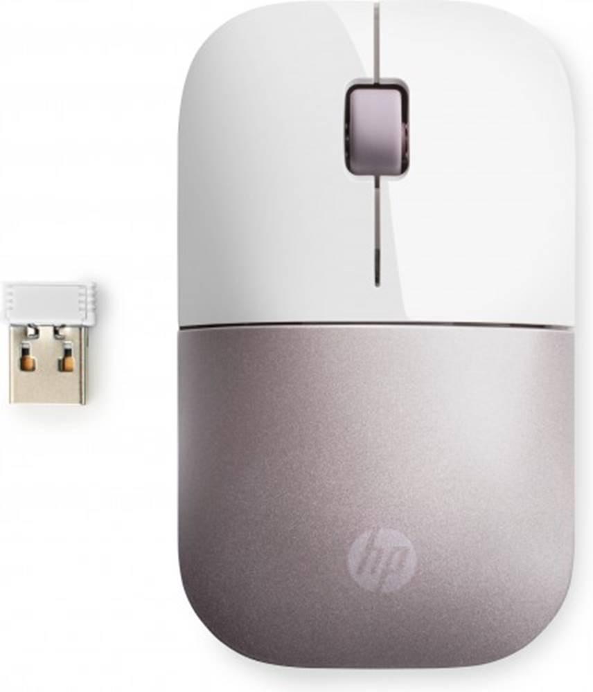 HP Bezdrôtová myš HP Z3700 - white pink + Zdarma podložka Olpran