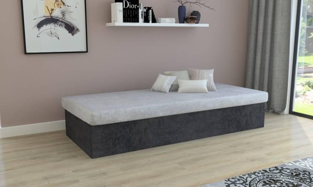 OKAY nábytok Váľanda Iva 80x200, čierna/šedá, vrátane úp