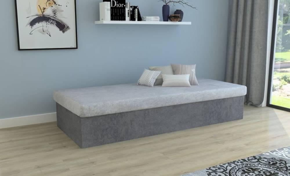 OKAY nábytok Váľanda Iva 80x200, šedá, vrátane úp
