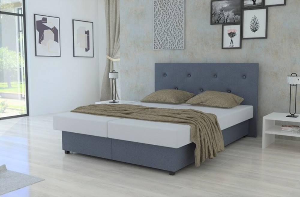 OKAY nábytok Čalúnená posteľ New Zofie 160x200 s úložným priestorom