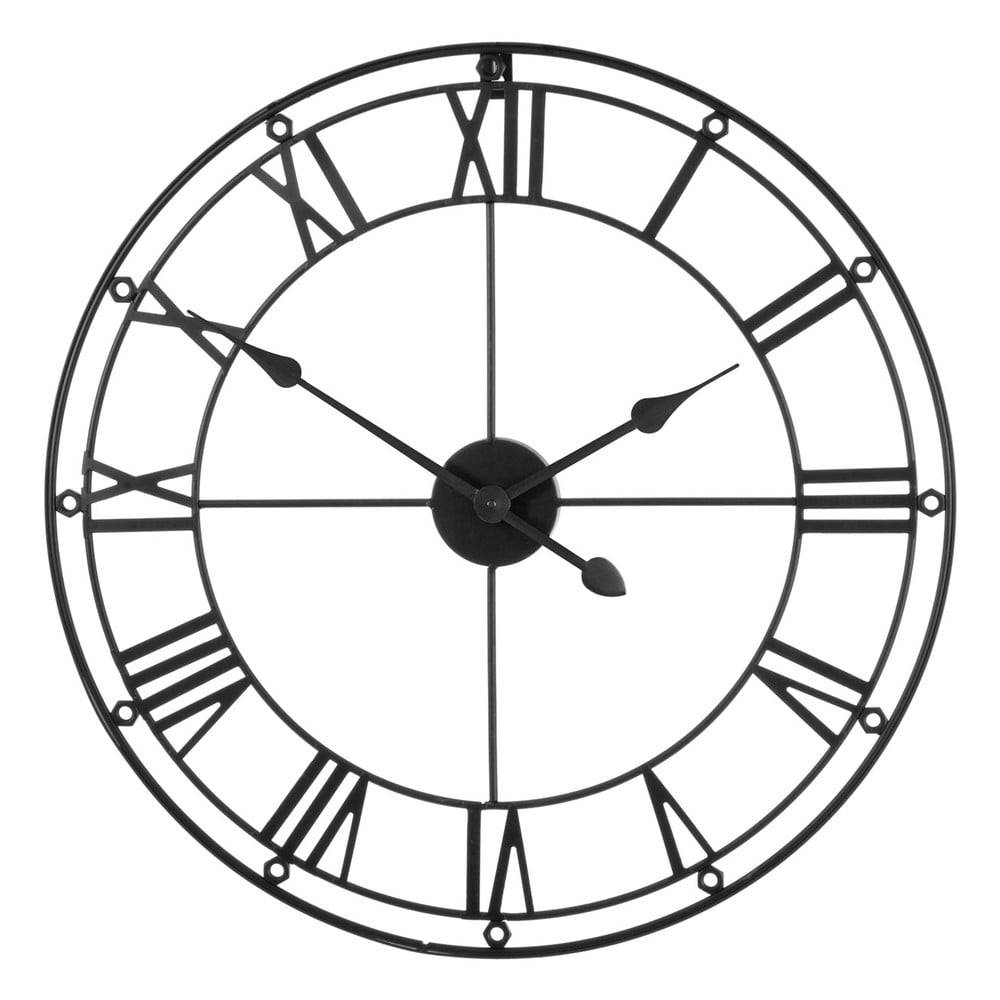 Premier Housewares Čierne nástenné hodiny Premier Housewares Matt, ⌀ 59 cm