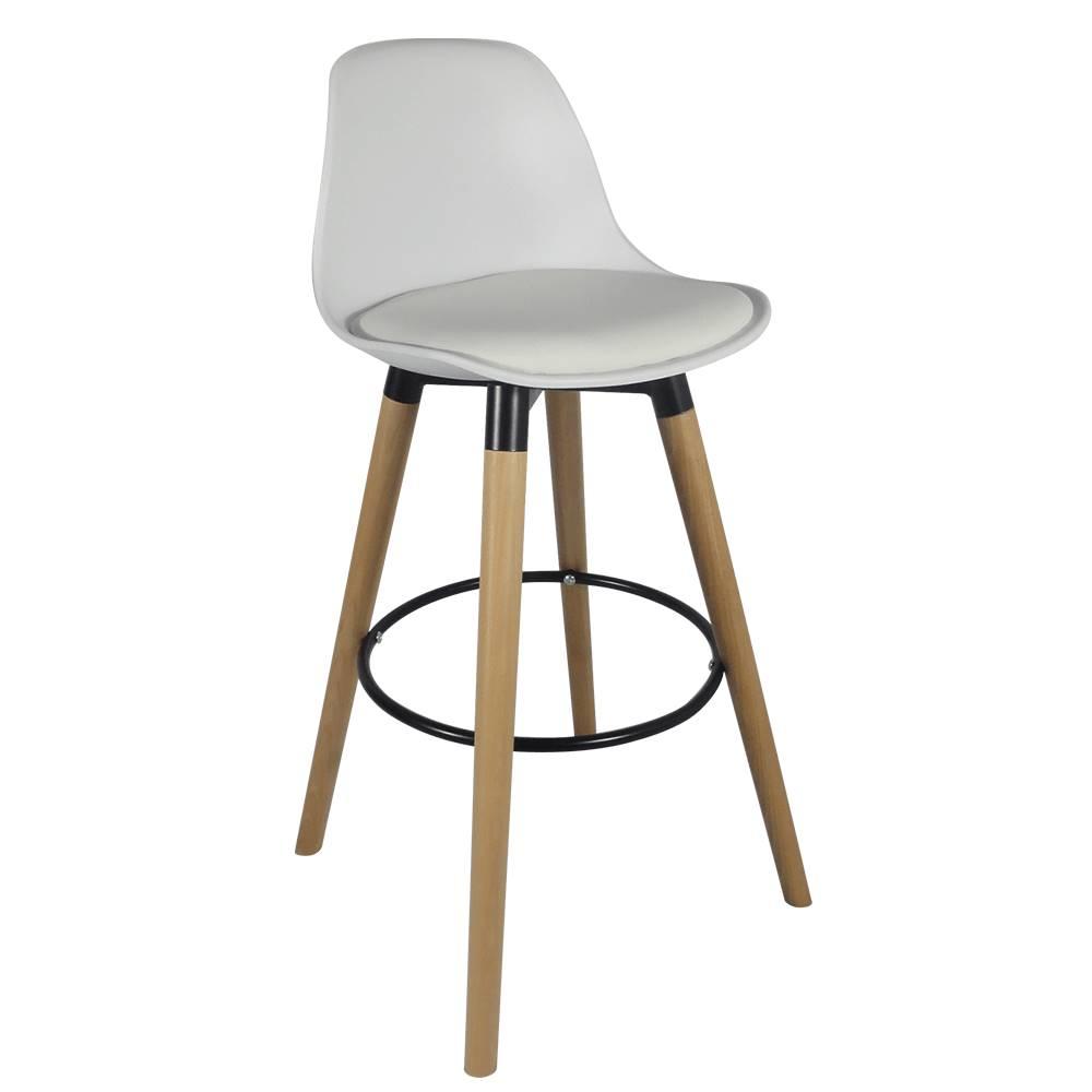 Tempo Kondela Barová stolička biela/buk EVANS