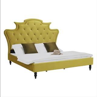 Luxusná posteľ zlatá Velvet látka 180x200 REINA