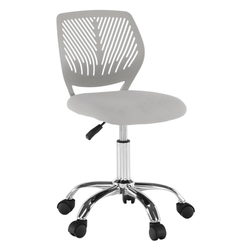 Tempo Kondela Otočná stolička sivá/chróm SELVA