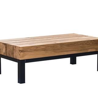 TIROL Konferenčný stolík 120x59 cm, tmavohnedá, dub