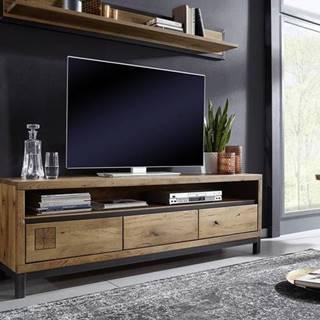 TIROL TV stolík 170x56, tmavohnedá, dub