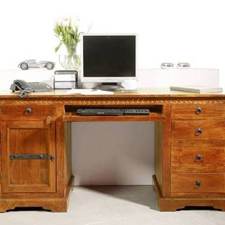 CAMBRIDGE HONEY Písací stôl 158x54 cm, akácia