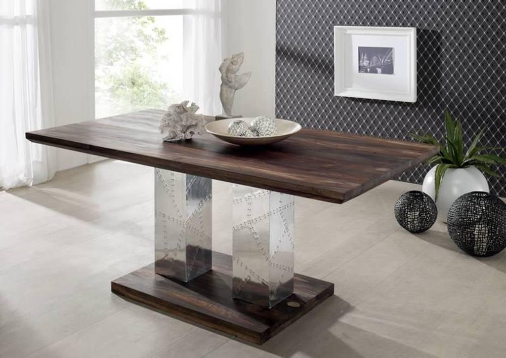 Bighome.sk PLAIN SHEESHAM Jedálenský stôl 200x100 cm