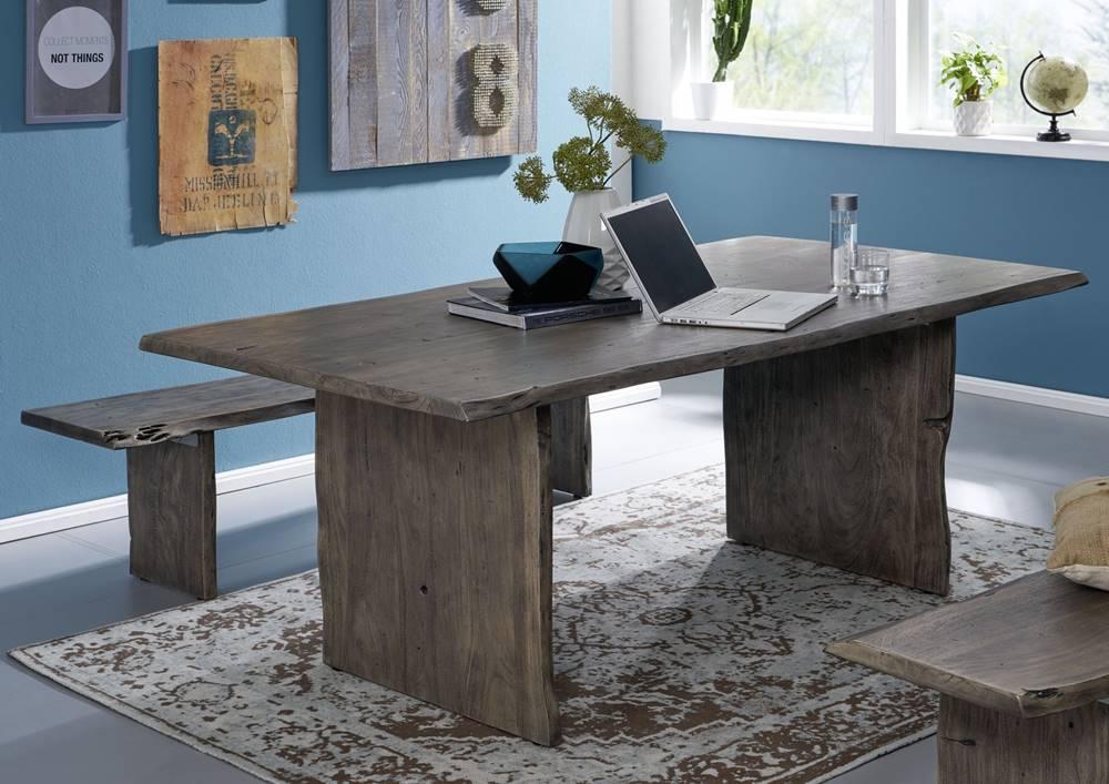 Bighome.sk WOODLAND Jedálenský stôl 220x100 cm, siváá, akácia