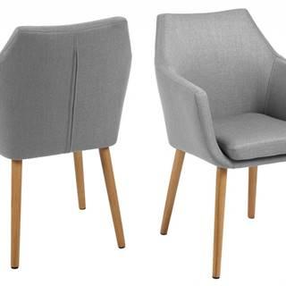 Jedálenská stolička s opierkami NORA, svetlosivá