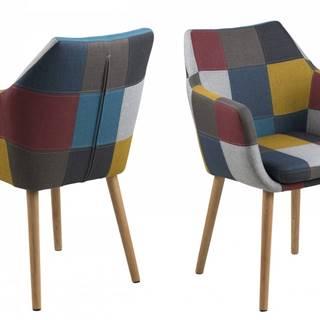 Jedálenská stolička s opierkami NORA, viacfarebná