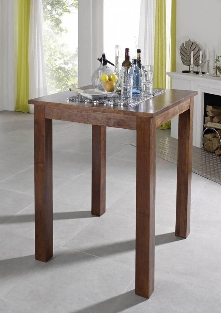 Bighome.sk CAMBRIDGE Barový stôl 85x85 cm, akácia