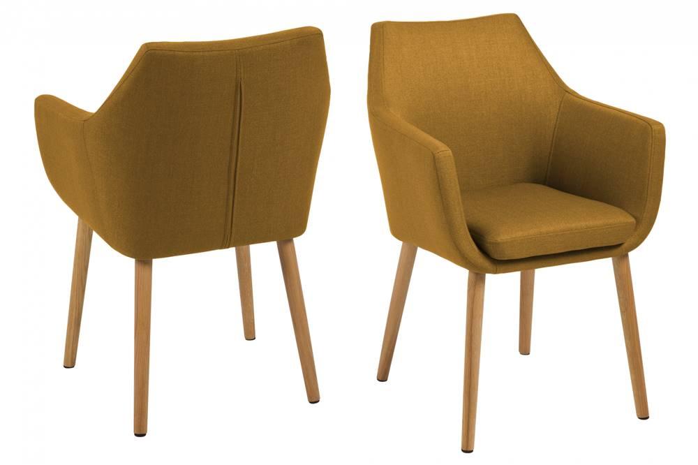 Bighome.sk Jedálenská stolička s opierkami NORA, žltá