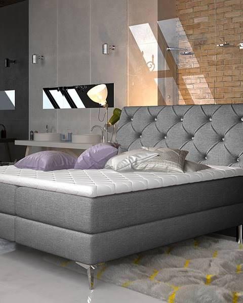 Sivá posteľ NABBI