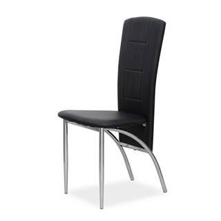 Fina jedálenská stolička čierna