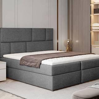 Ferine 145 čalúnená manželská posteľ s úložným priestorom sivá (Sawana 05)