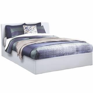 Kerala manželská posteľ s roštom biela