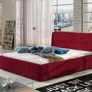Portima 140 čalúnená manželská posteľ bordová