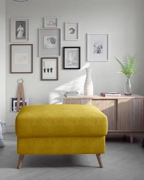 Žltá taburetka NABBI
