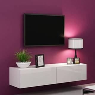 Vigo 140 tv stolík na stenu biela