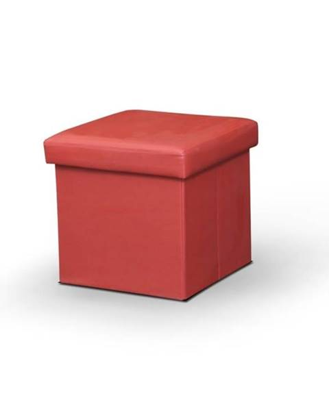 Červená taburetka Tempo Kondela