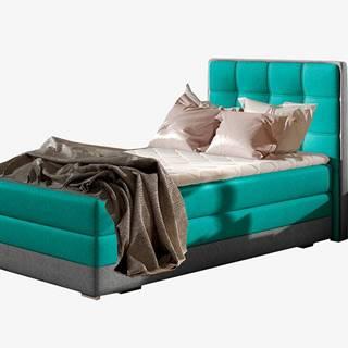 Alessandra 90 P čalúnená jednolôžková posteľ svetlomodrá