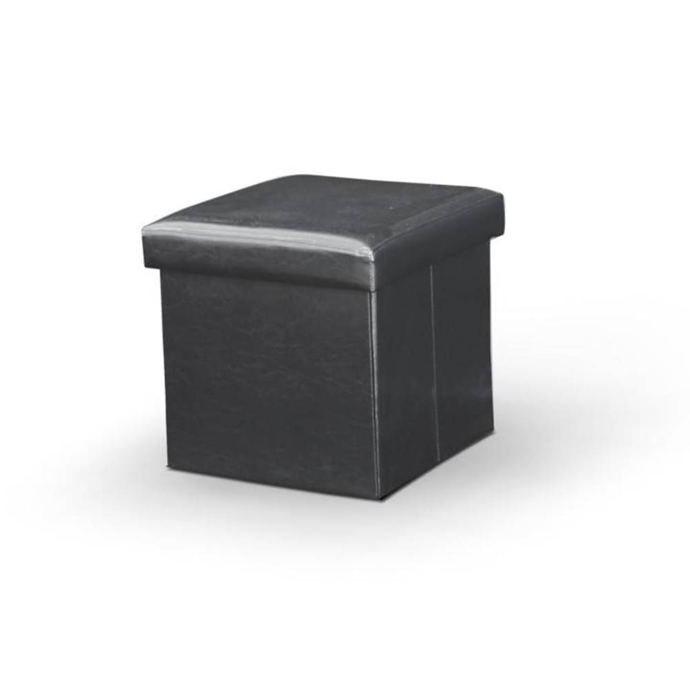 Tempo Kondela Tela New taburetka s úložným priestorom čierna